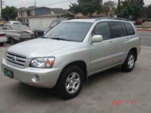 Silver Toyota Highlander Similar To The Car Used In The Crime
