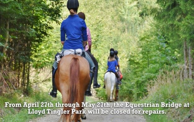 Equestrian Bridge closed april to may